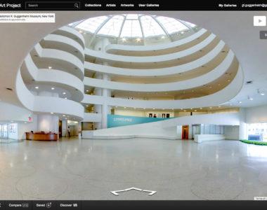 Flânez dans les allées du Musée Guggenheim de New-York avec Google Street View